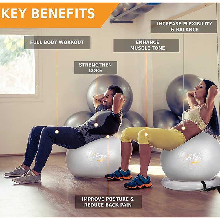 Exercise Ball Workout System