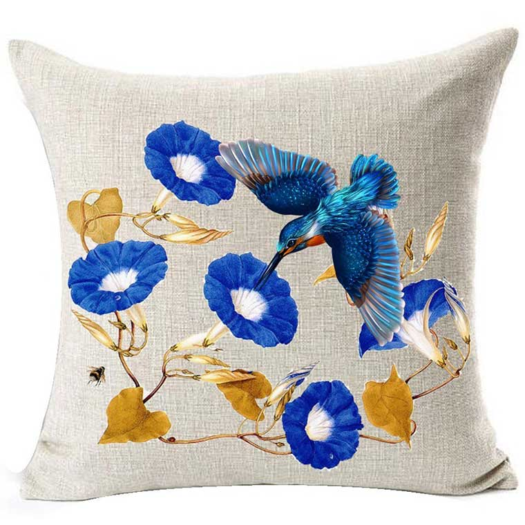 Bird Watercolor Pillow