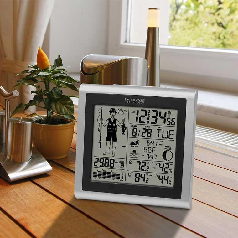 Fishing Tide and Barometer Clock