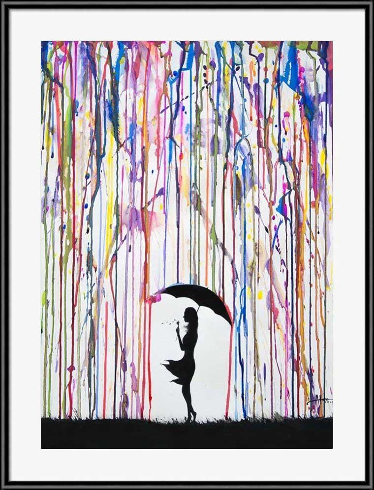 Paint Rain Framed Poster