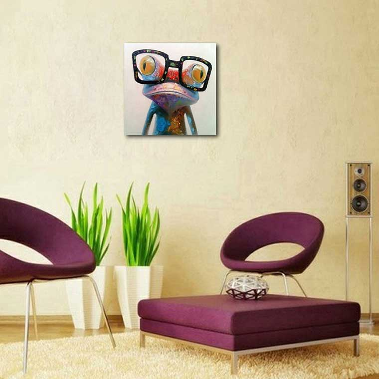 Frog Wearing Glasses Painting