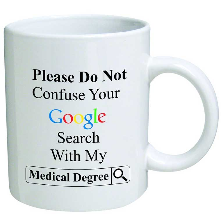 Google Search Medical Mug