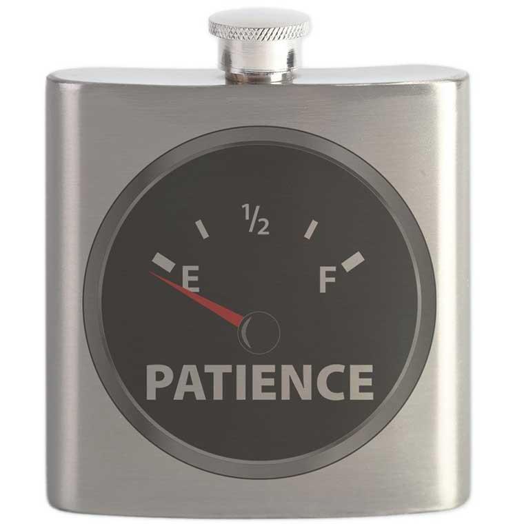 Patience Fuel Gauge Flask