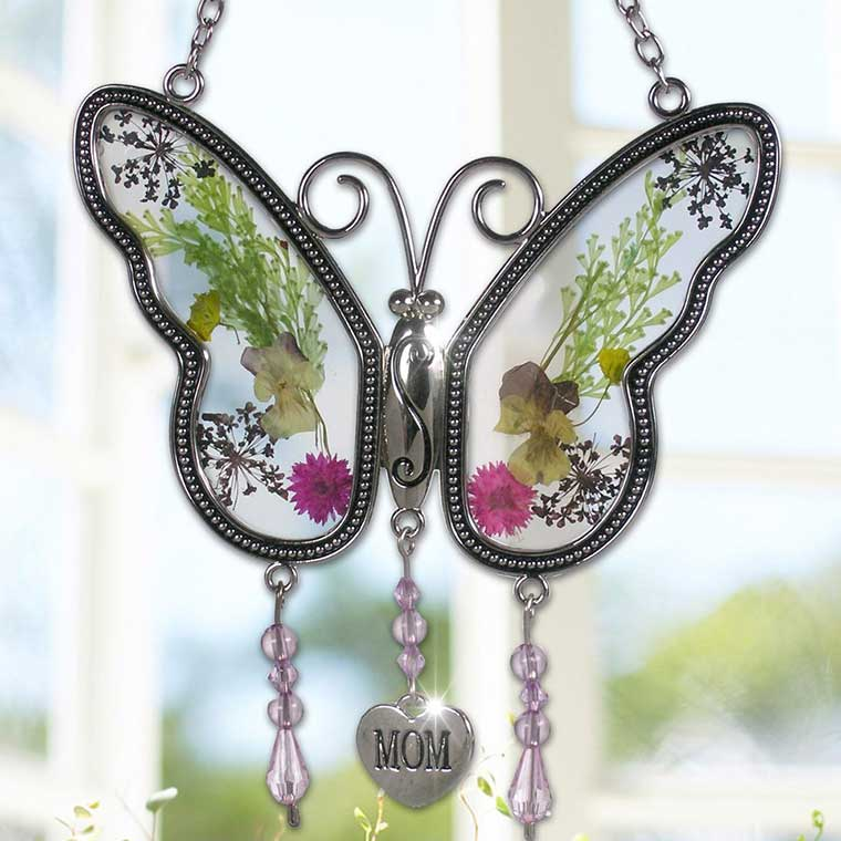 Pressed Flower Suncatcher