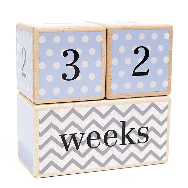 Wooden Baby Age Blocks
