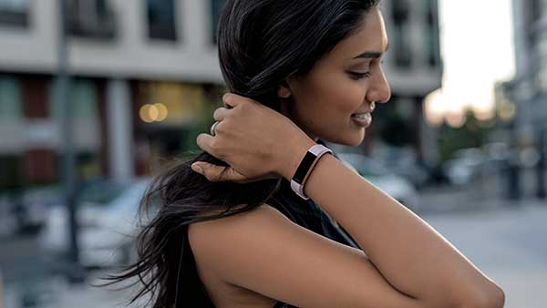 Girl Wearing Latest Fitbit 2017