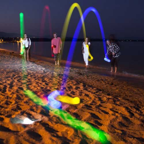 Glow in the dark bocce game set