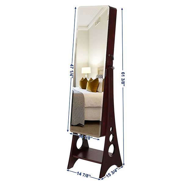Jewelry Cabinet Full Length Mirror