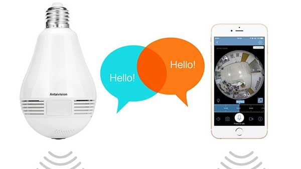 Light Bulb with Camera and Audio