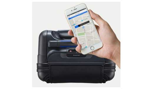 Carry on Suitcase with GPS