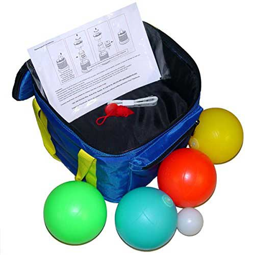 bocce ball set lighted