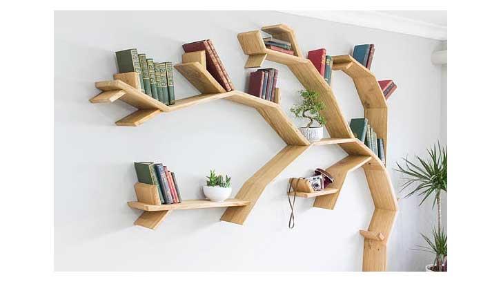 Book Shelf Shaped Like a Tree