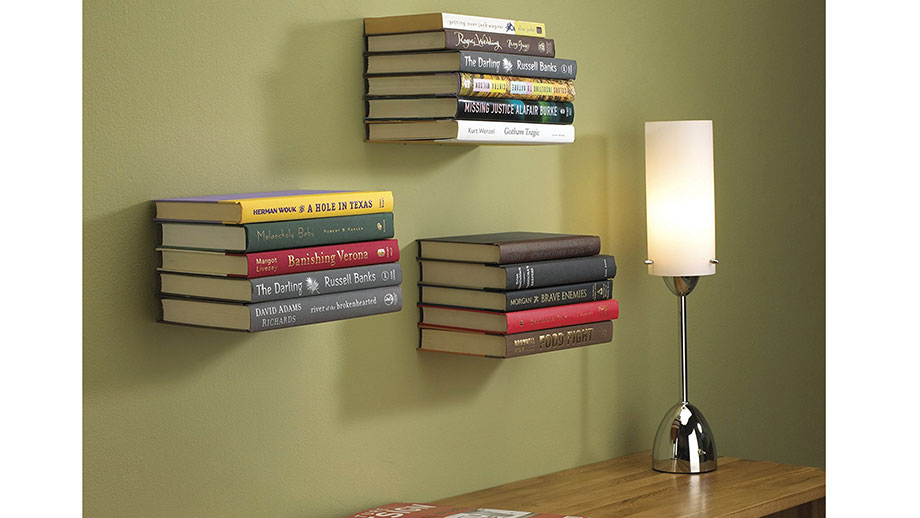 Hidden Bracket Bookshelf