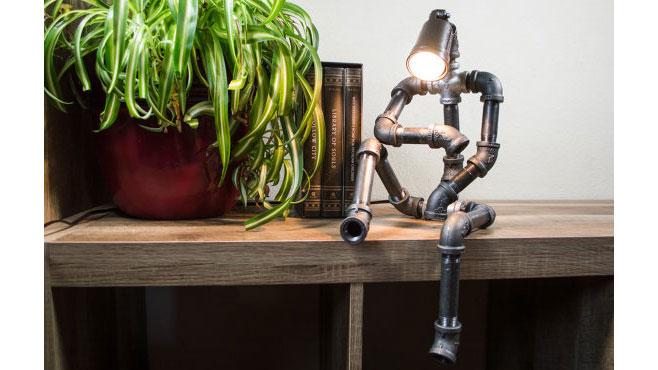 Robot Pipe Lamp