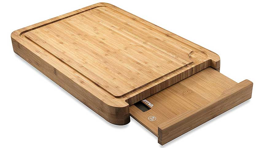cutting board and scale combo