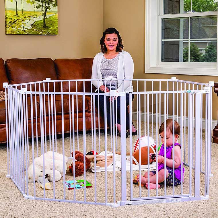 Wide Adjustable Baby Gate