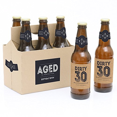 30th Birthday Beer Bottle Labels