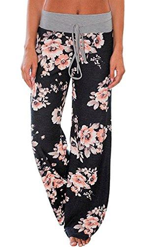 AMiERY Women's Comfy Casual Pajama Pants Floral Print