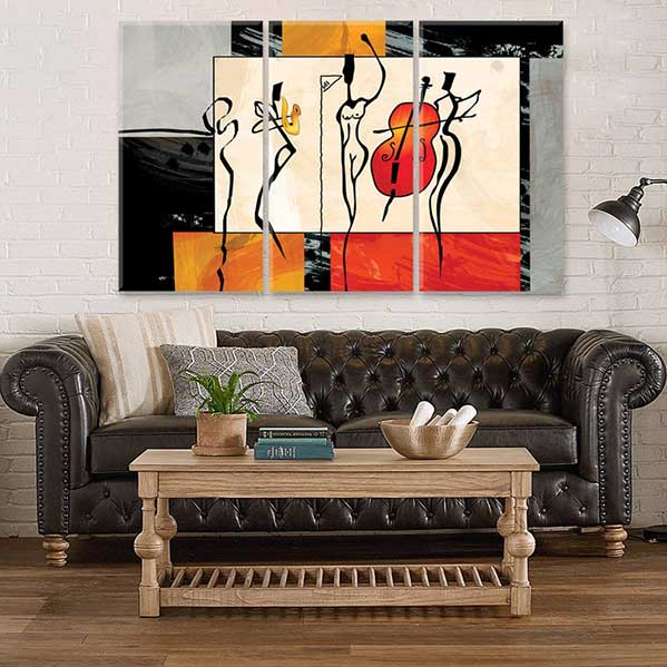Abstract Musicians Decor Large Canvas