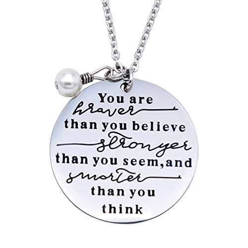 Always Remember You are Braver Than You Believe Necklace
