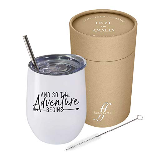 And So The Adventure Begins Wine Tumbler
