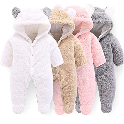 Baby Fleece Hooded Jumpsuit