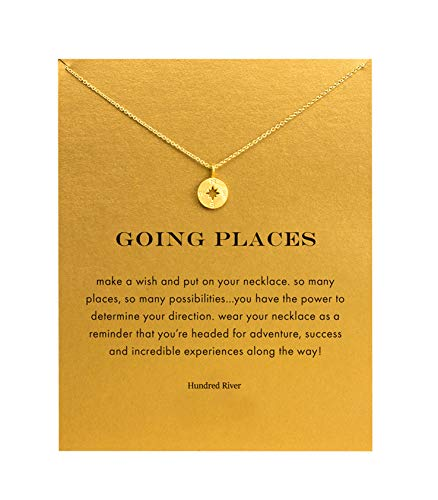Baydurcan Going Places Compass Necklace