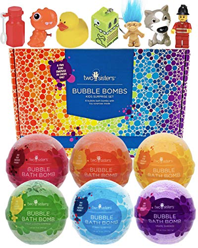 Bubble Bath Bombs for Kids with Surprise Toys