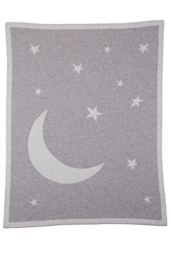 Cashmere Moon and Stars Baby Blanket