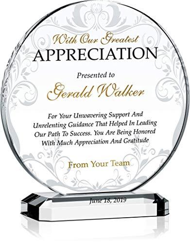 Crystal Appreciation Plaque