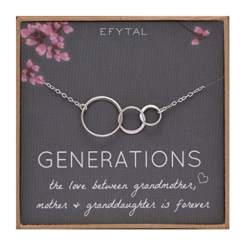 EFYTAL Generations Necklace Sterling Silver representing Grandma