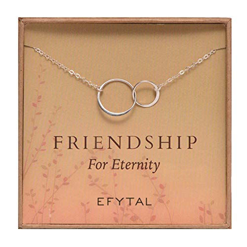 Efy Tal Sterling Silver Interlocking Friendship for Eternity Necklace