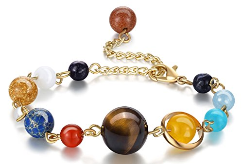 Eight Planets Solar System Bracelet