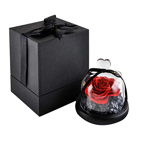 Eternal Rose Preserved Hand made Flower Rose with Beautiful Creative Heart Design