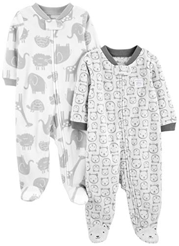 Fleece Footed Sleep and Play Onesies