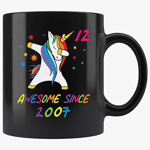 Funny 12th Birthday Unicorn Mug