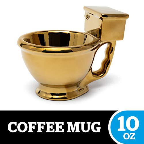 Golden Toilet Mug