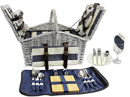 HappyPicnic Huntsman Willow Picnic Hamper