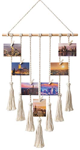 Homemade Macrame Photo Decoration