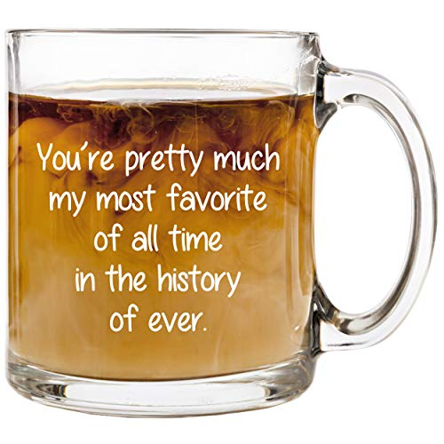 I Love You Glass Coffee Mug