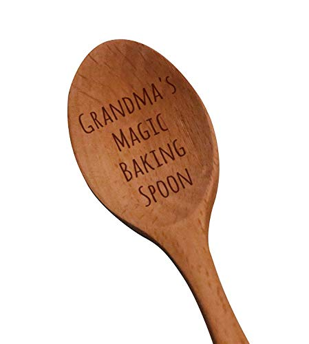 Laser Engraved Grandma's Magic Baking Spoon Wooden Spoon