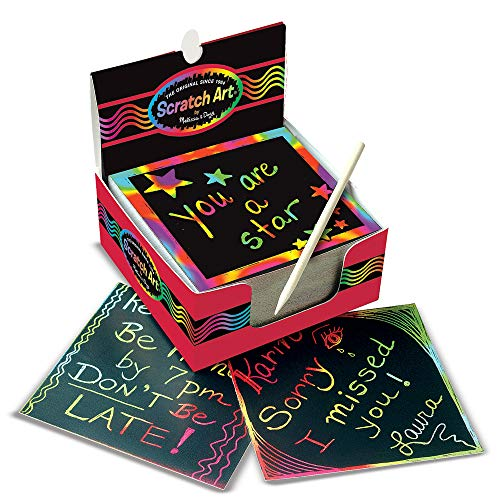 Melissa and Doug Scratch Art Box of Rainbow Mini Notes