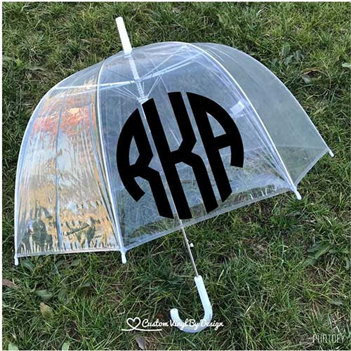 Monogrammed Adult Umbrella