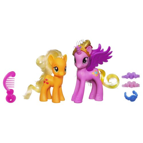 My Little Pony Princess Cadance and Applejack Figures