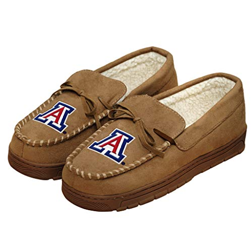 NCAA Mens College Team Logo Moccasin Slippers