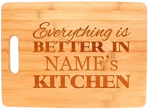 Personalized Big Rectangular Bamboo Cutting Board