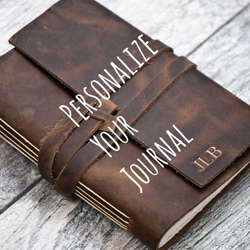 Personalized Premium Leather Journal or Sketchbook