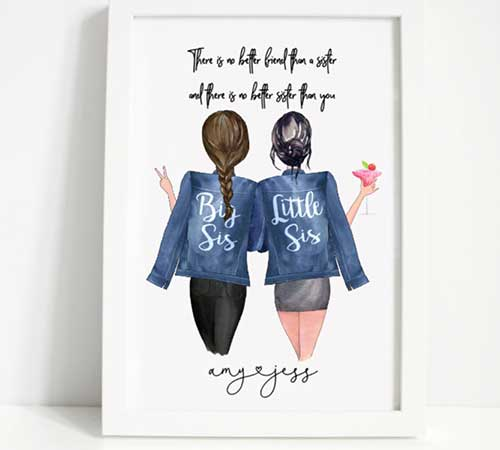 Personalized Sister Print