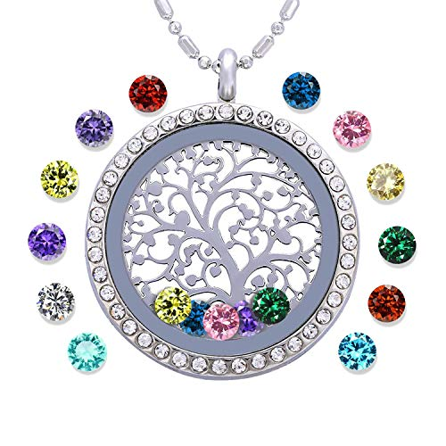 Personalized Tree of Life Birthstone Necklace
