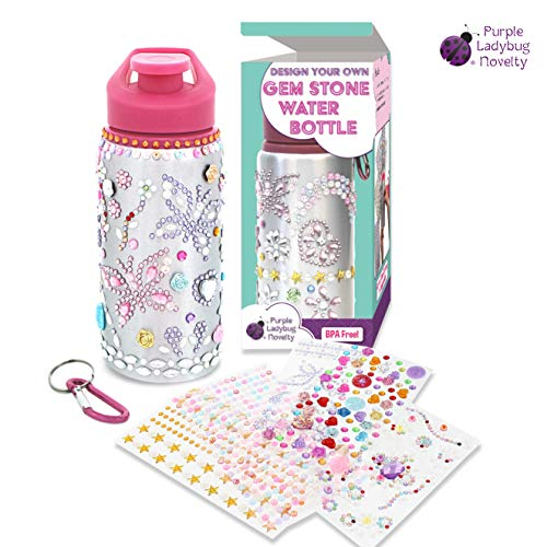 Personalized Water Bottles with Rhinestone Glitter Gem Stickers